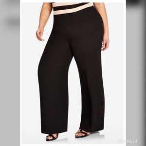 Ashley Stewart Smocked Waist Wide Leg Pants NWT